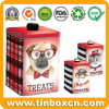 Pet Food Treats Tin Box for Cat/Dog Biscuit Cookies