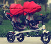 New Cool Toy Hot Sales Children Twin Tricycle /Price Twin Tricycle for Kids/High Quality Baby Twin Tricycle with Ce Approval