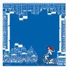 Composite Chiffon Blue Square Scarf