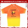 Sublimayion Yellow Orange Short Sleeve Kids Rash Guard (ELTRGI-55)