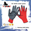 13G Nylon Line Palm Black Nitrile Smooth Coated Glove