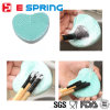 Colorful Heart Shape Clean Make up Wash Brush Silicon Glove Scrubber Board Cleaning