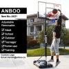 Portable Movable Basketball Goal with Adjustable Backboard Spring Rim