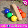 2015 Colorful Mini Wooden Car Toys for Kids, Chileren Wooden Cars Toy with 6 Wheels, Wholesale Cheap Small Wooden Toy Car W04A139