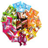 Metalized Pet PVC Twist Film for Candy Wrapper 18microns