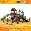 2015new Wood-Plastic Composite Outdoor Children Playground Equipment (NL-01701)