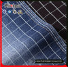 Knit Elastic Soft Check Pattern Cotton Denim Fabric for Pants