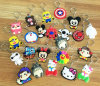 Custom Rubber Keychain, Cartoon Design Promotion Gift Silicone Keychain