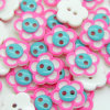 Pink Resin Fancy Shirt Buttons