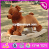 New Design Cute Bear Wooden Baby Rocking Animal W16D073