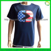 Custom Cotton Clothing for T-Shirts with Logo Patch on Chest