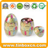 Eeaster Eggs Shape Metal Tin Gift Box for Packing Chocolate