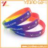 Deboss Imprint Logo Colorful Silicone Wristband, Rubber Bracelet (XY-ST-004)