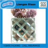 Crystal Mirror Glass with Electric Carving