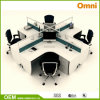Office Workstation for Four Person; Wood Panel Workstation (OM-CB-01-20mm)