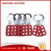 Plastic or Vinyl Coated Lockout Hasp with Hook