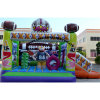 Rugby Inflatable Small Bouncer with Slide and Obsatcle