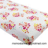 Flower Design Knitted Cotton Printing Crib Sheet for Baby/Kids
