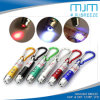 LED UV Light Keychain with Mountain Climing Hook Laser Pointer LED Laser Light Keychain