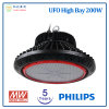 5 Years Warranty 200W UFO High Bay LED Light with Philips LED Chip and Meanwell Power Supply