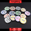 12g Ultimate Sticker/ Poker Chips European Clay Laser Casino Chips Ym-Cy02