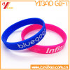 High Quality Deboss Imprint Color Solid Silicone Wristband for Promotion Gift (XY-SW-017)