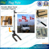 6m Portable Car Wheel Stand Telescoping Flagpole