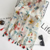 Thin Wholesale Flourish Printed Polyester Fashion Scarf (HWM06)