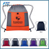 Printed Polyester Waterproof Backpack Drawstring Bag for Promotion