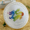 2017 Free Sample 999 Silver Paint Colorful Custom Souvenir Coins