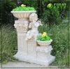 High Class Roman Baby Angel Double Flower Pots (NF14225A)