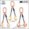 G80 Two Leg Safety Hook Lifting Chain Sling with Ring