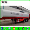 Truck Trailer Used 3 Axle 45000L Crude Oil Tank Fuel Tanker for Sale