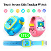 Touch Screen Kids GPS Watch with GPS+Lbs+WiFi Triple Position (D13)