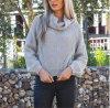 2017 Fashion Women′s Turtleneck Pullover Knitting Sweater Long Sleeve