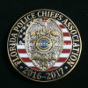 Custom Military Police Officer Metal Badge Coins with Gold Finish