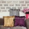 High-End European Fringed Pillow Fashion Sofa Cushions with Wrinkle