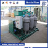 High Efficiency Water Treatment Device with Inclined Plate Separator