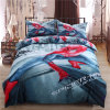 Unique Cool Stylish Spider Man Duvet Cover and Bed Sheet Bedding Set