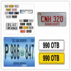 Custom Aluminum/Metal Card, Car Number License Plate