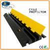Electrical Wire Floor 2 Channel Rubber Cable Protector Ramp Black Yellow