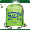OEM Polyester Promotion Reusable Travel Drawstring Backpack Bag
