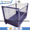 Collapsible Wire Mesh Steel Pallet Basket Container with High Quality