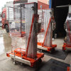 Portable Electric Aerial Working Lifting Platform One Mast Aluminum Alloy Hydraulic Lift Platform