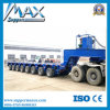 Hydraulic Lifting Axle Lowbed / Modular Semi Trailer with Loading Ramps and Different Capacity by Your Choice