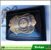 Gold Plating Us Officer Badge for ID Holder