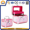 Pink Makeup Vanity Case with Mirror and Tray (HB-3200)