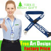 Custom Polyester/Nylon Printing Neck Lanyard with Plastic Safety Breakaway Buckle
