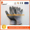 Ddsafety 2017 Grey Nylon Black PU Glove