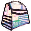 Hologram Clear PVC Tote Bag with Shoulder Straps for Ladies